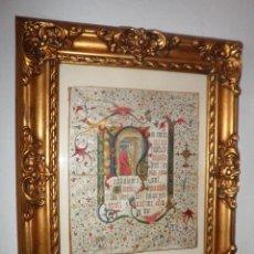 Arte: ANTIGUO CODICE MINIADO - SIGLOS XV-XVI - ILUMINADO·EXCEPCIONAL.. Lote 119118303