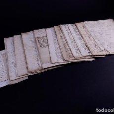 Arte: FAMILIA ELCANO, LOTE DE LEGAJOS, BIZKAIA 1790-1900. Lote 119481831