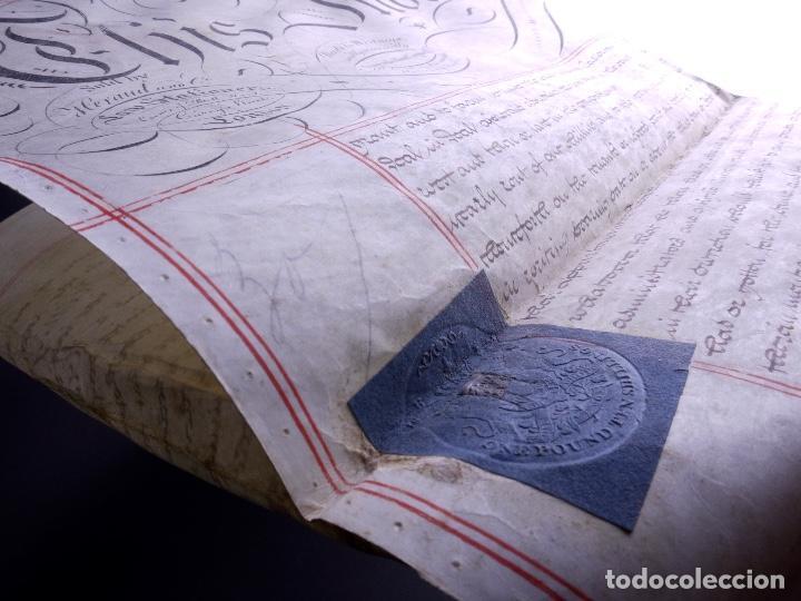 PERGAMINO MANUSCRITO EN INGLES CON SELLOS DE LACRE, LONDON 1810 (Arte - Manuscritos Antiguos)