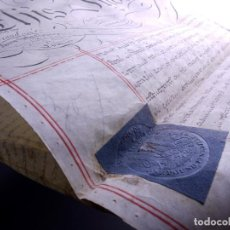 Arte: PERGAMINO MANUSCRITO EN INGLES CON SELLOS DE LACRE, LONDON 1810. Lote 119660023