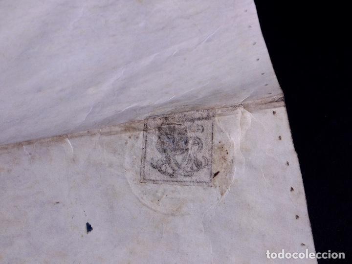 Arte: PERGAMINO MANUSCRITO EN INGLES CON SELLOS DE LACRE, LONDON 1810 - Foto 9 - 119660023