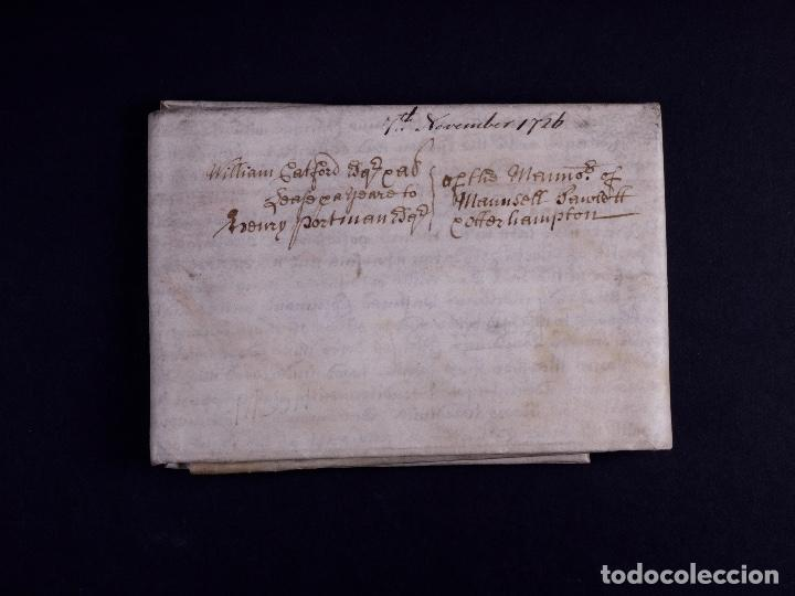 Arte: PERGAMINO MANUSCRITO EN INGLES CON OCHO SELLOS DE LACRE, 1726 - Foto 2 - 119662731