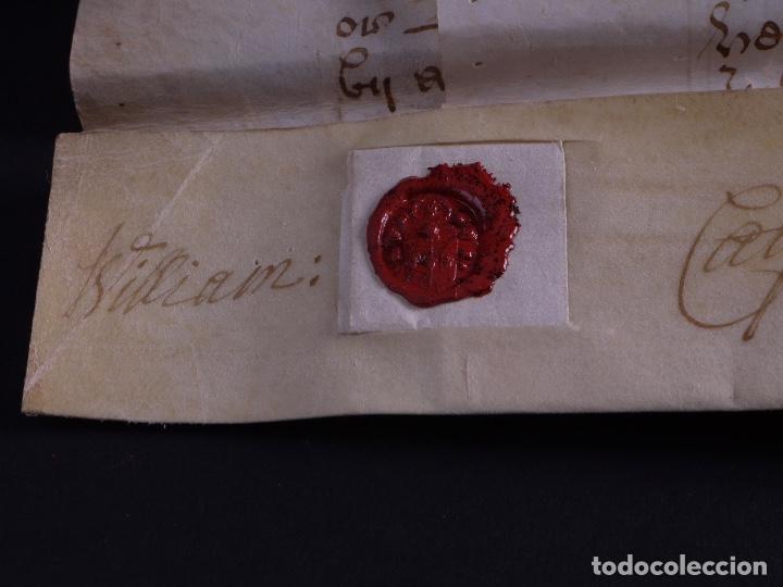 Arte: PERGAMINO MANUSCRITO EN INGLES CON OCHO SELLOS DE LACRE, 1726 - Foto 9 - 119662731