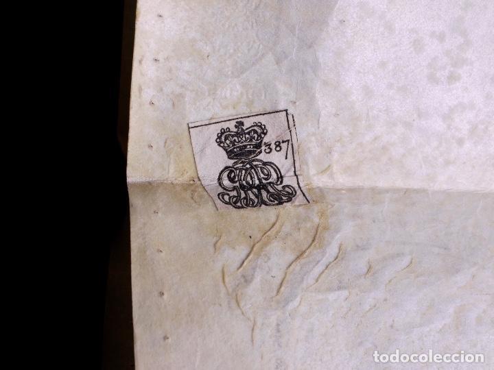 Arte: PERGAMINO MANUSCRITO EN INGLES CON OCHO SELLOS DE LACRE, 1726 - Foto 13 - 119662731