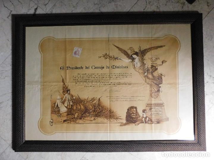 PRESIDENTE CONSEJO DE MINISTROS ESPAÑOL, JOSÉ CANALEJAS, 21 AGOSTO 1911. ¡MANUSCRITO SELLADO GRANDE! (Arte - Manuscritos Antiguos)