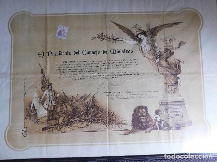 Arte: Presidente Consejo de Ministros Español, José Canalejas, 21 Agosto 1911. ¡Manuscrito sellado grande! - Foto 2 - 120004439