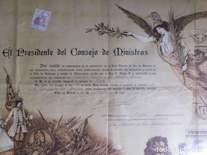 Arte: Presidente Consejo de Ministros Español, José Canalejas, 21 Agosto 1911. ¡Manuscrito sellado grande! - Foto 3 - 120004439