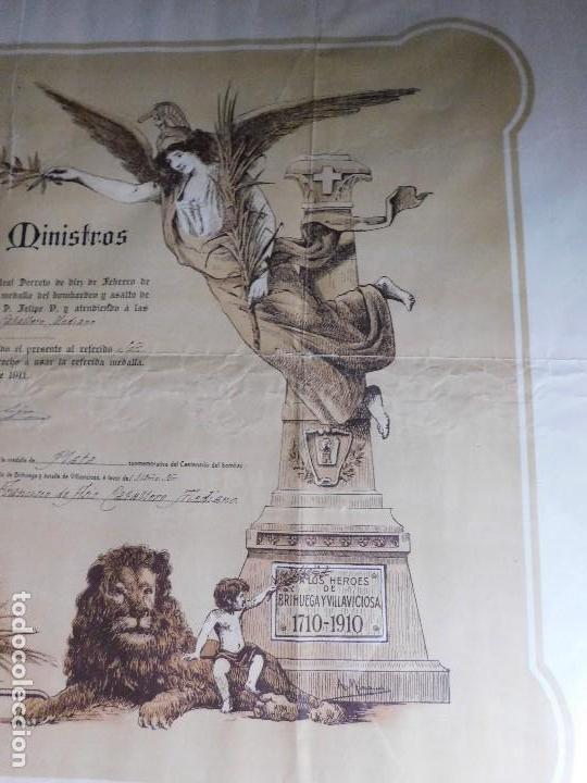 Arte: Presidente Consejo de Ministros Español, José Canalejas, 21 Agosto 1911. ¡Manuscrito sellado grande! - Foto 6 - 120004439