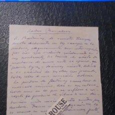 Arte: ADRIA GUAL / ANTONI BADRINAS - CARTA AUTOGRAFA ORIGINAL A TINTA DE ADRIA GUAL 7 DE MAYO 1942 . Lote 133154214