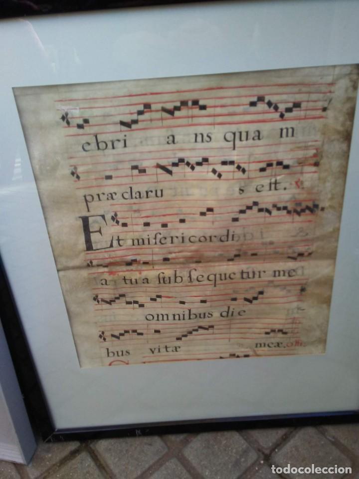 ANTIGUA HOJA DE CANTORAL (Arte - Manuscritos Antiguos)