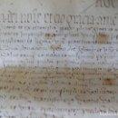 Arte: LIBRERIA GHOTICA. MANUSCRITO MEDIEVAL EN PERGAMINO DEL SIGLO XV. 1458. CELRA. GIRONA. 45 X 25 CM.. Lote 155785978