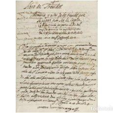 Arte: TREUDOS DE LAS CASAS QUE FUERON DE MOSSEN JERONIMO CASTILLO Y DESPUES DE JUAN MARTIN CIPRES.... Lote 156046357