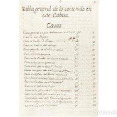 Arte: CABREO DE LOS BIENES DE DN. MIGUEL CIPRES Y EXEA, Y DN MIGUEL YBAÑEZ DE AOYZ, Y CIPRES YNFANZONES, Y. Lote 156046381