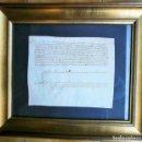Arte: ACTA NOTARIAL FINALES SIGLO XV-PERGAMINO 22X18-MARCO: 39X33CM- MUY BUEN ESTADO-FIRMA GRANDE. Lote 158741738