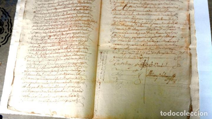 TRES ESCRITURAS DE ABADIANO CASA Y ARBOLES DE AGUIRRE GOJENCIA 1654-1657-1669. 28 PAG MANUSCRITAS. (Arte - Manuscritos Antiguos)