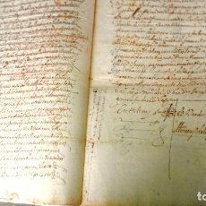 Arte: TRES ESCRITURAS DE ABADIANO CASA Y ARBOLES DE AGUIRRE GOJENCIA 1654-1657-1669. 28 PAG MANUSCRITAS.. Lote 159615554