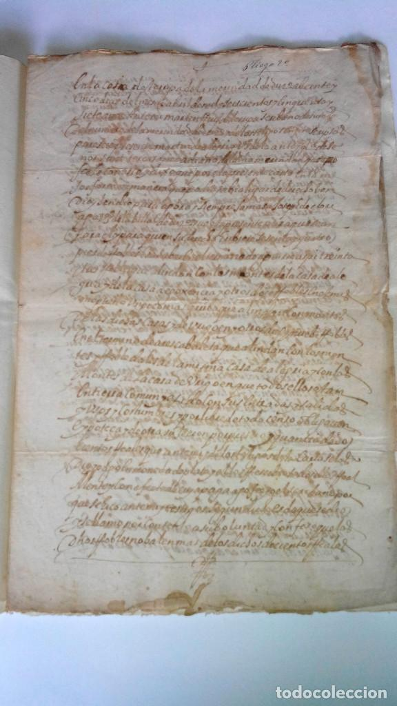 Arte: TRES ESCRITURAS DE ABADIANO CASA Y ARBOLES DE AGUIRRE GOJENCIA 1654-1657-1669. 28 pag manuscritas. - Foto 2 - 159615554