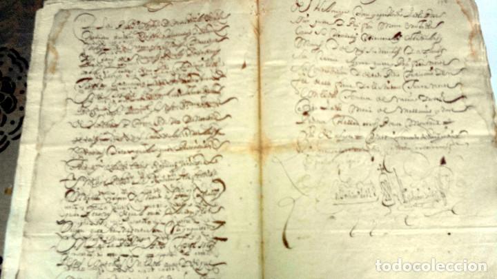 Arte: TRES ESCRITURAS DE ABADIANO CASA Y ARBOLES DE AGUIRRE GOJENCIA 1654-1657-1669. 28 pag manuscritas. - Foto 4 - 159615554