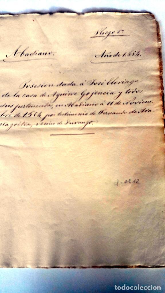 Arte: TRES ESCRITURAS DE ABADIANO CASA Y ARBOLES DE AGUIRRE GOJENCIA 1654-1657-1669. 28 pag manuscritas. - Foto 5 - 159615554