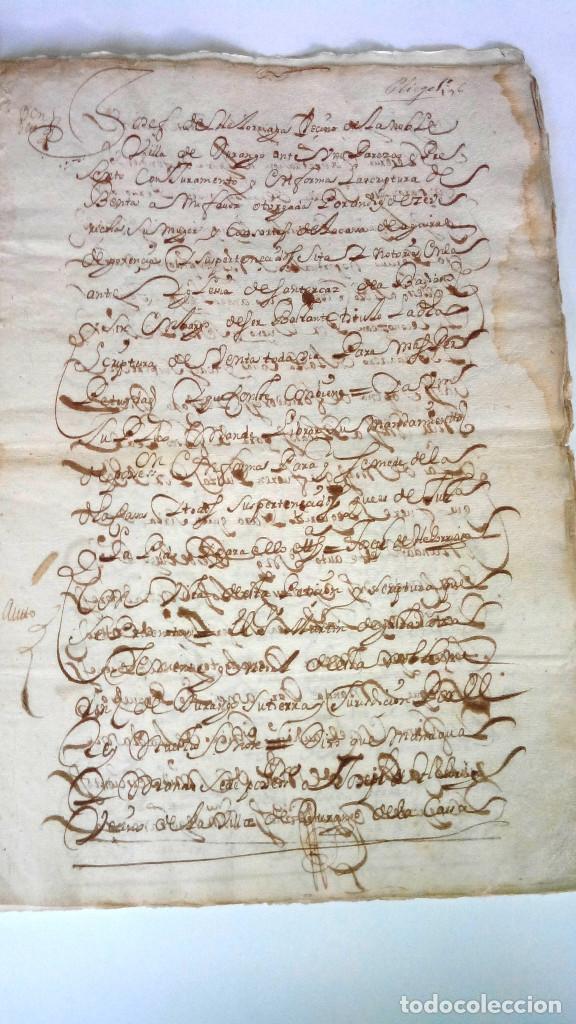 Arte: TRES ESCRITURAS DE ABADIANO CASA Y ARBOLES DE AGUIRRE GOJENCIA 1654-1657-1669. 28 pag manuscritas. - Foto 6 - 159615554