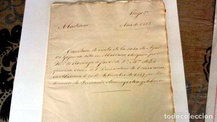 Arte: TRES ESCRITURAS DE ABADIANO CASA Y ARBOLES DE AGUIRRE GOJENCIA 1654-1657-1669. 28 pag manuscritas. - Foto 8 - 159615554