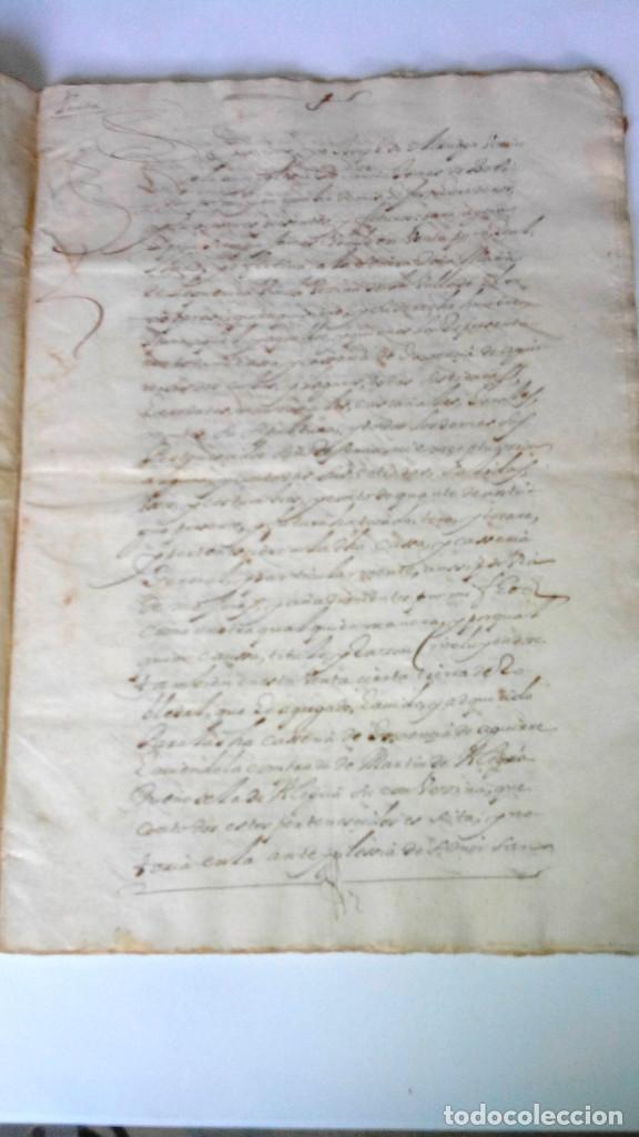 Arte: TRES ESCRITURAS DE ABADIANO CASA Y ARBOLES DE AGUIRRE GOJENCIA 1654-1657-1669. 28 pag manuscritas. - Foto 9 - 159615554