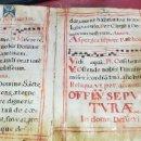 Arte: LIBRO CANTORAL SIGLO XVI HOJAS DE PERGAMINO MANUSCRITO 18 HOJAS 2 CARAS. Lote 161148594