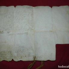 Art: (M) PERGAMINO MANUSCRITO FRANQUESES DE LLOGREGAT ( SANT JUST DESVERN ) 1679, SEÑALES DE USO NORMALES. Lote 172819998