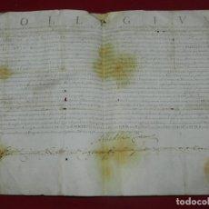 Arte: (M) PERGAMINO MANUSCRITO COLLEGIUM ( JUNTOS POR LEY) MDCLXVIII, S:D:N:D: CLEMENTIS PP.IX CON SELLO. Lote 172820359
