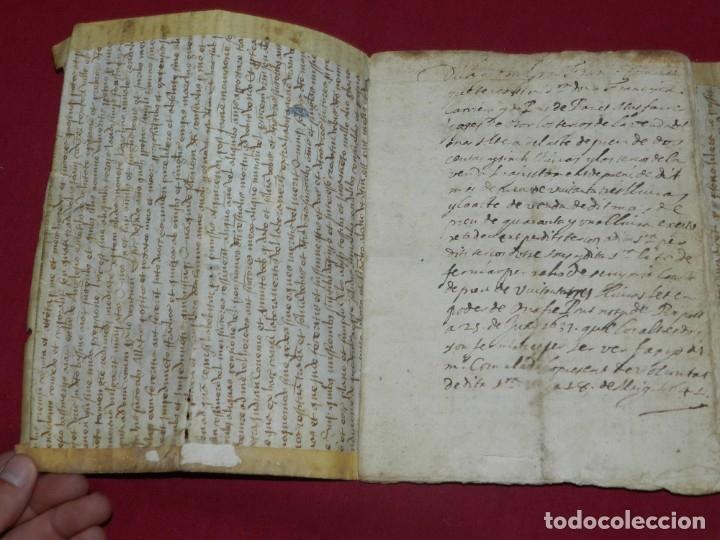 Arte: (M) Libro Documento Manuscrito Santa Maria de Osor (Gerona) 1644, Libro de Ventas Mas Ferrer - Foto 2 - 172820518