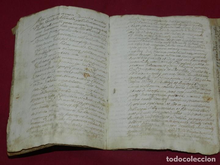Arte: (M) Libro Documento Manuscrito Santa Maria de Osor (Gerona) 1644, Libro de Ventas Mas Ferrer - Foto 5 - 172820518