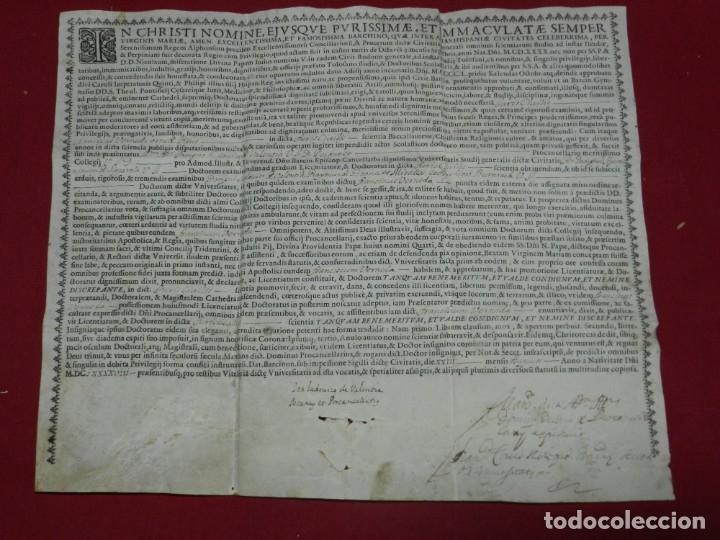 (M) PERGAMINO MANUSCRITO / IMPRESO MDCFXXXXVIII IN CHRISTI NOMINE EJUSQUE INMACULATE - INMACULADA (Arte - Manuscritos Antiguos)