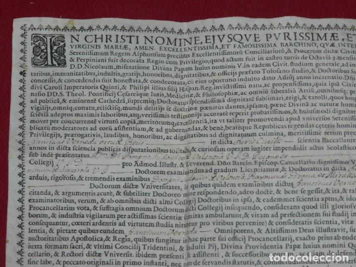 Arte: (M) Pergamino Manuscrito / Impreso MDCFXXXXVIII In Christi Nomine Ejusque Inmaculate - Inmaculada - Foto 2 - 172820738