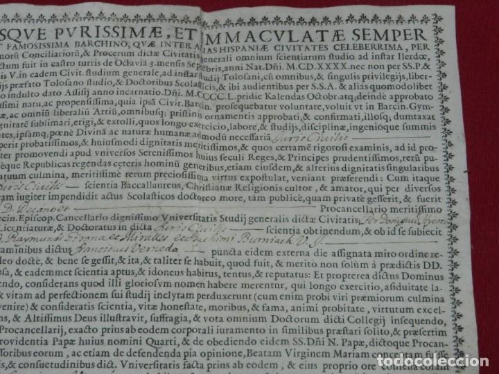 Arte: (M) Pergamino Manuscrito / Impreso MDCFXXXXVIII In Christi Nomine Ejusque Inmaculate - Inmaculada - Foto 3 - 172820738