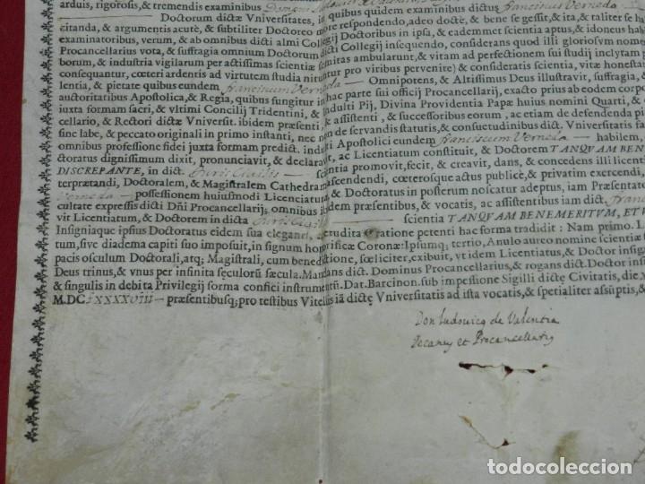 Arte: (M) Pergamino Manuscrito / Impreso MDCFXXXXVIII In Christi Nomine Ejusque Inmaculate - Inmaculada - Foto 4 - 172820738