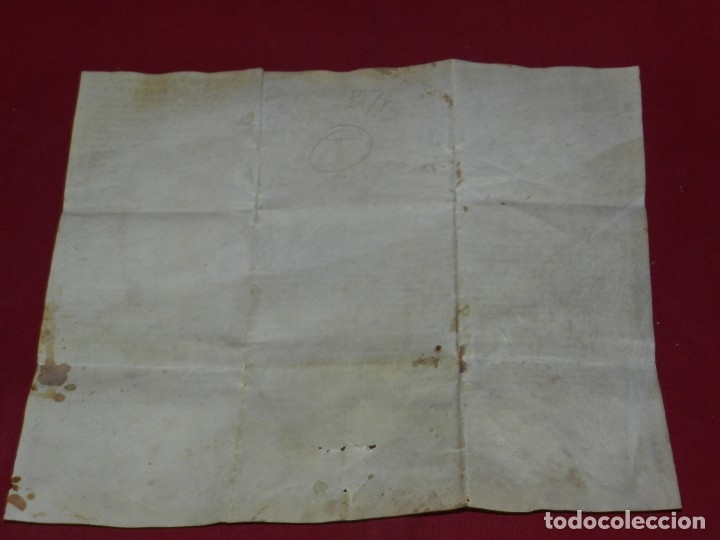 Arte: (M) Pergamino Manuscrito / Impreso MDCFXXXXVIII In Christi Nomine Ejusque Inmaculate - Inmaculada - Foto 7 - 172820738