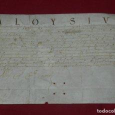 Arte: (M) PERGAMINO MANUSCRITO ALOYSIUS (SAN ALOYSIUS) AÑO 1584, 29X19,5CM, SEÑALES DE USO NORMALES. Lote 172820878