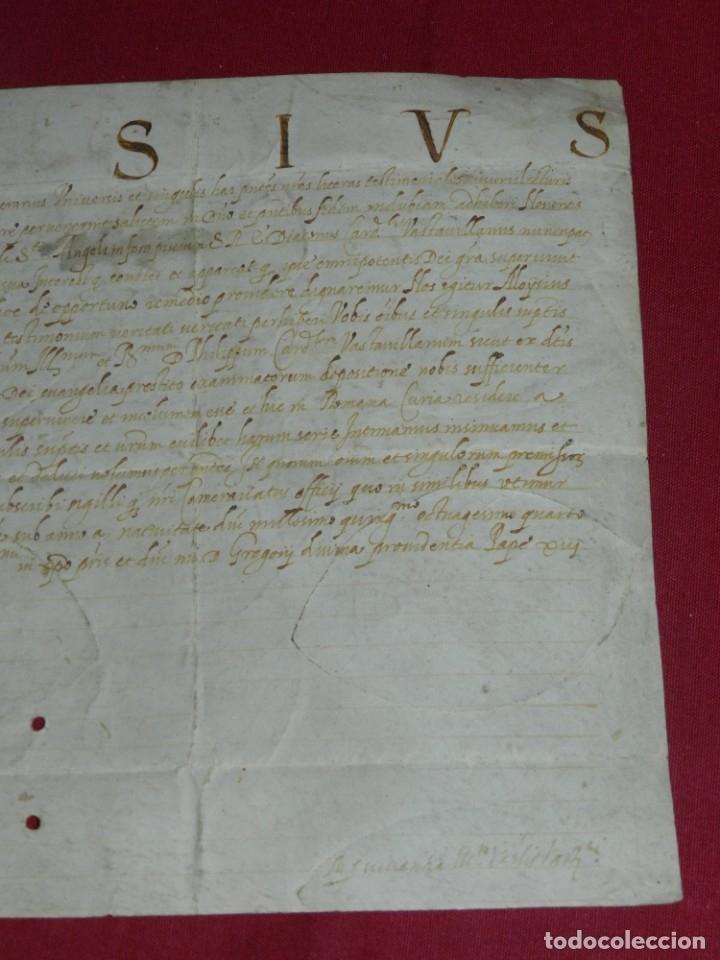 Arte: (M) Pergamino Manuscrito Aloysius (San Aloysius) año 1584, 29x19,5cm, señales de uso normales - Foto 4 - 172820878
