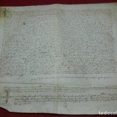 Arte: (M) PERGAMINO MANUSCRITO DE SAN BOI DE LLOBREGAT AÑO 1530, 43X37 CM, SEÑALES DE USO NORMALES. Lote 172821038