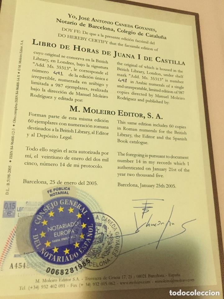 LIBRO HORAS DE JUANA I DE CASTILLA (Arte - Manuscritos Antiguos)