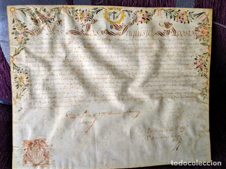Arte: MANUSCRITO NOMBRAMIENTO ORIGINAL DE LA SANTA INQUISICION DE MURCIA 1793 - Foto 3 - 44520161