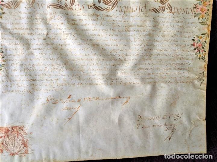 Arte: MANUSCRITO NOMBRAMIENTO ORIGINAL DE LA SANTA INQUISICION DE MURCIA 1793 - Foto 4 - 44520161