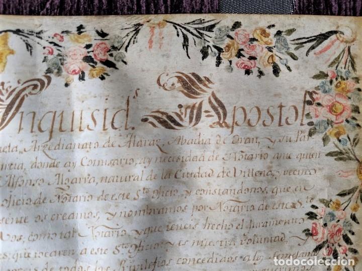 Arte: MANUSCRITO NOMBRAMIENTO ORIGINAL DE LA SANTA INQUISICION DE MURCIA 1793 - Foto 7 - 44520161
