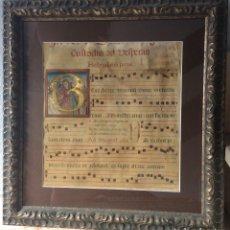 Art: HOJA DE CANTORAL EN PERGAMINO MINIADO - S. XVI - XVII. Lote 174630264