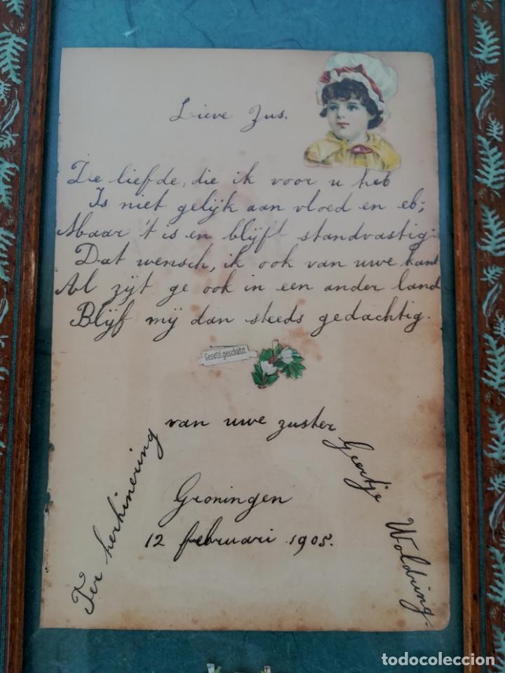 Arte: Antiguos cuentos infantiles holandeses de los años 1904, 1905 y 1908, enmarcado - Foto 3 - 175613684
