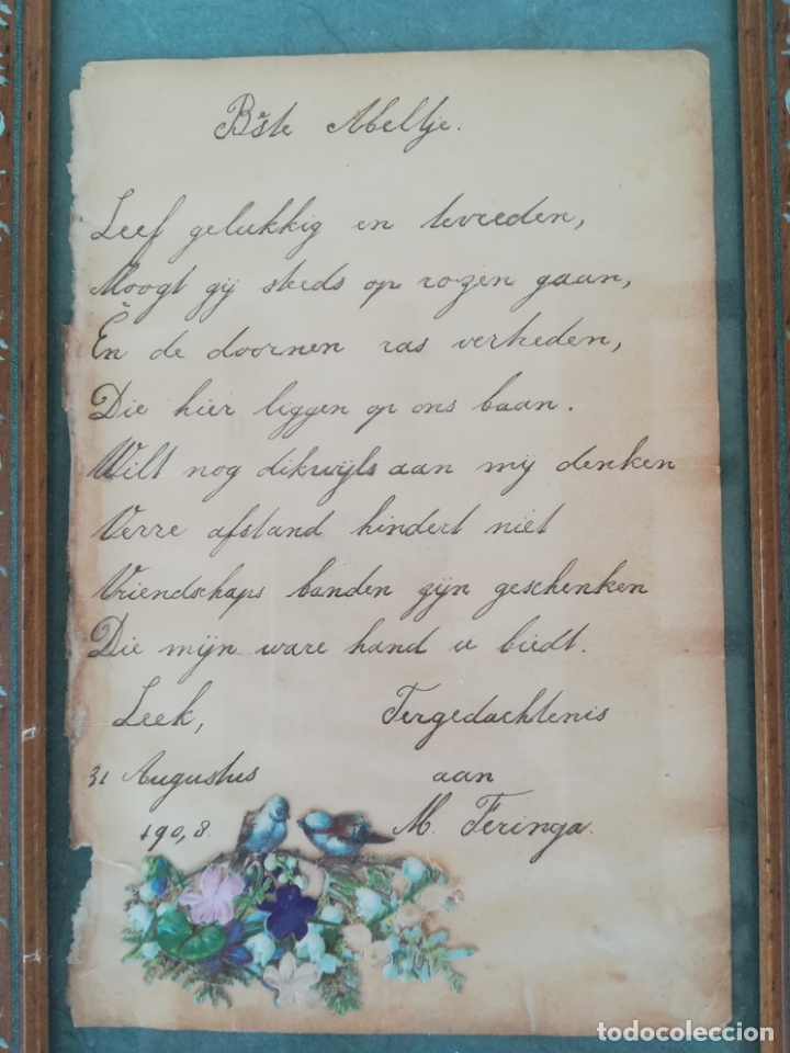 Arte: Antiguos cuentos infantiles holandeses de los años 1904, 1905 y 1908, enmarcado - Foto 5 - 175613684