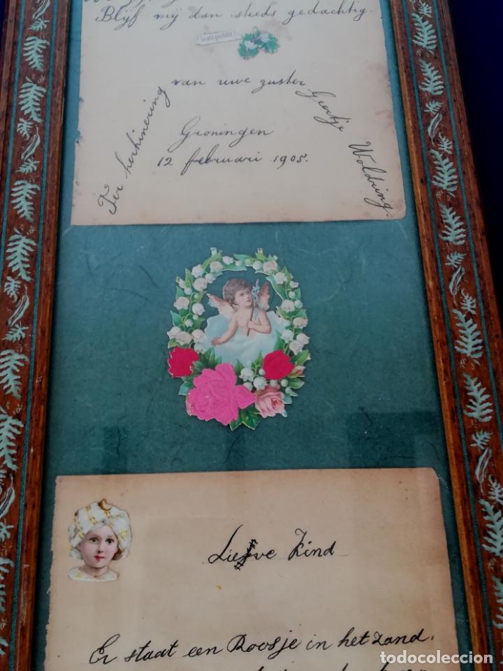 Arte: Antiguos cuentos infantiles holandeses de los años 1904, 1905 y 1908, enmarcado - Foto 9 - 175613684
