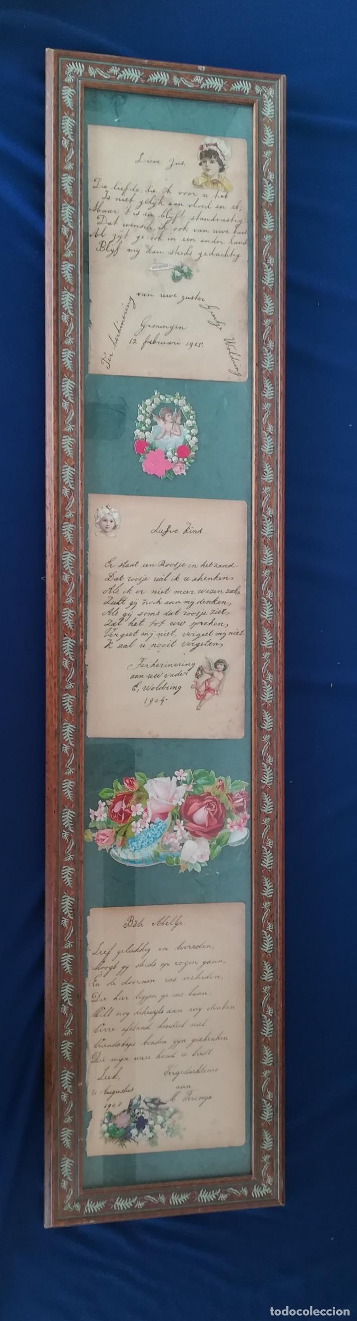 ANTIGUOS CUENTOS INFANTILES HOLANDESES DE LOS AÑOS 1904, 1905 Y 1908, ENMARCADO (Arte - Manuscritos Antiguos)