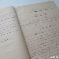 Arte: ANTIGUA LIBRETA CON APUNTES MANUSCRITOS PARA LA CONFECCIÓN DE COLORES PARA PINTAR -S/F.. Lote 176056335