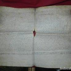 Arte: (M) PERGAMINO DE CARDONA S.XVIII, 60X45 CM, SEÑALES DE USO CON ROTURITAS. Lote 177183512